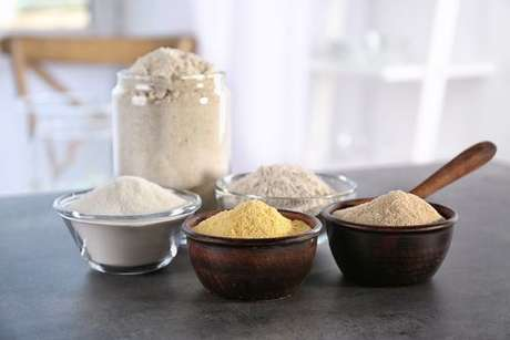 Tipos diferentes de farinha