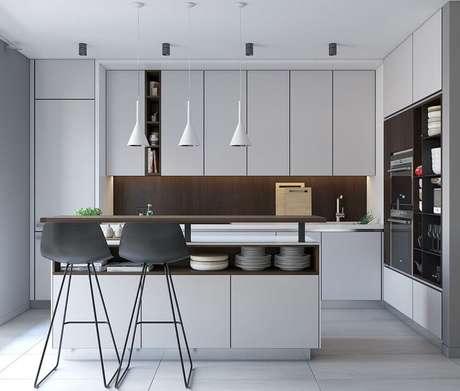 13. O armário de cozinha planejado é excelente para ambientes modernos – Foto: Pinterest