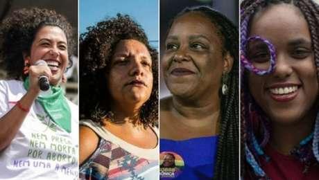 Talíria Perone, Renata Souza, Monica Francisco e Dani Monteiro