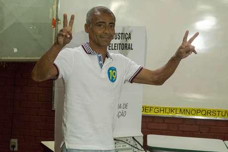 Romário foi candidato ao governo do Rio de Janeiro, mas não passou para o segundo turno