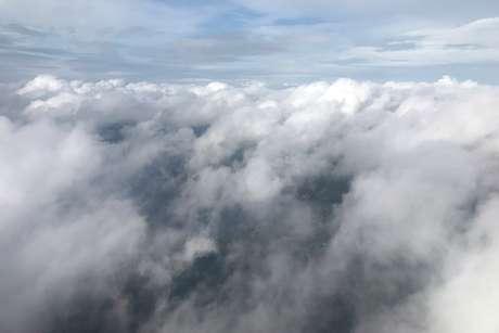 Nuvens do furacão Michael fotogradas de um avião em Tallahassee 09/10/2018 REUTERS/Carlo Allegri
