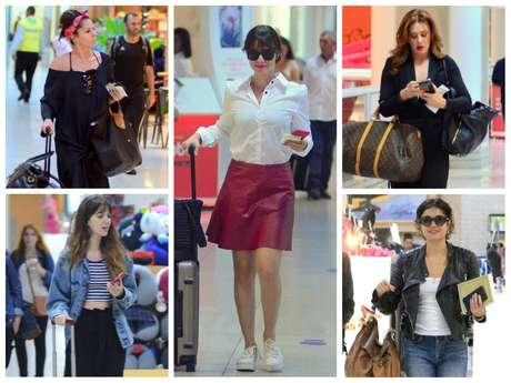 Famosas no aeroporto (Fotos: AgNews)