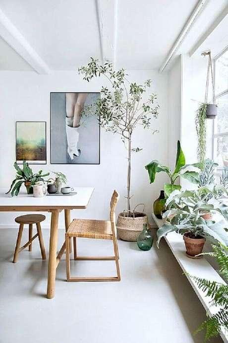 24. Decoração de sala de jantar moderna com estilo escandinavo – Foto: Pinterest
