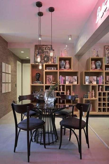 43. O estilo contemporâneo está super em alta na decoração de sala de jantar – Foto: Pinterest