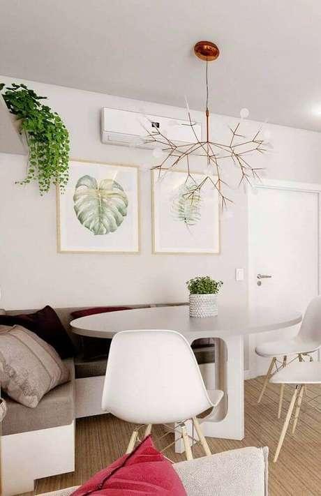 48. Modelo arrojado de pendente para sala de jantar moderna – Foto: Home Decoo