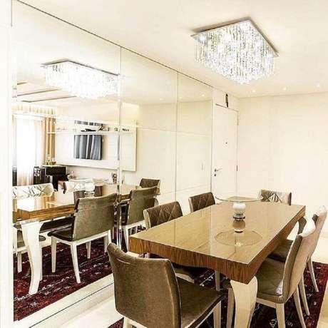 64. Decoração para sala de jantar moderna e sofisticada – Foto: Great Arquitetura