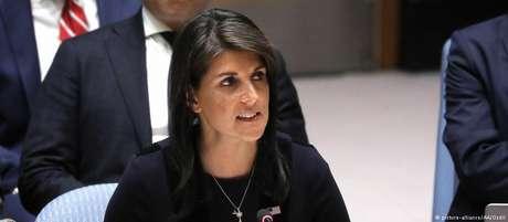 Muitas iniciativas de Nikki Haley na ONU foram de apoio incondicional à política isolacionista de Trump