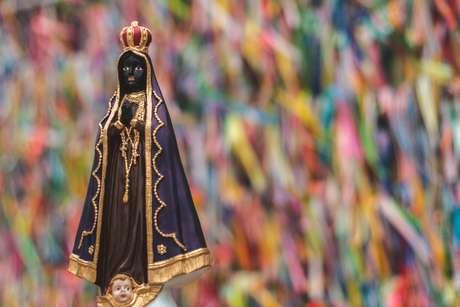 Imagem de estatueta de nossa senhora da Conceição Aparecida