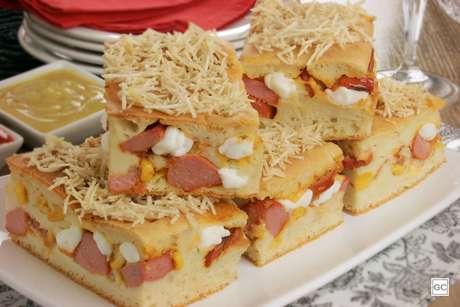 Torta hot dog com batata
