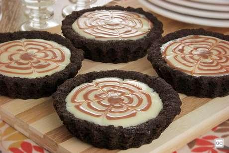 Tortinha mesclada dois chocolates