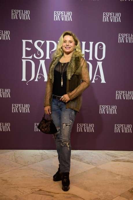 Vera Fischer no lançamento da novela (Rede Globo/Divulgação)