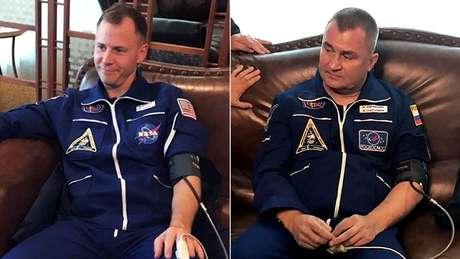 Nick Hague e Alexey Ovchinin sobreviveram ao incidente sem nenhum problema médico aparente