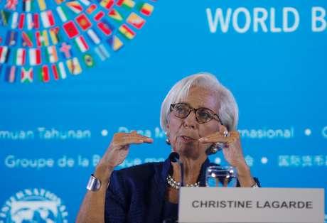 Diretora-gerente do Fundo Monetário Internacional (FMI), Christine Lagarde, durante reunião em Bali, Indonésia 11/10/2018 REUTERS/Johannes P. Christo