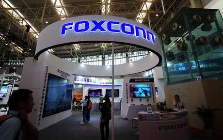 Expositor da Foxconn em congresso de Tianjin, China 19/05/2018 REUTERS/Stringer