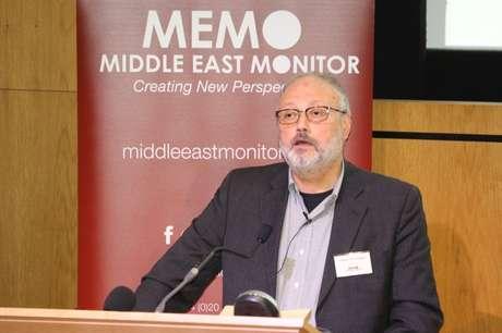 Dissidente saudita Jamal Khashoggi fala em evento em Londres  29/9/2018   Divulgação