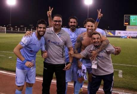 Jogadores comemoram vitória no último fim de semana (Foto: Divulgação / Al Batin)