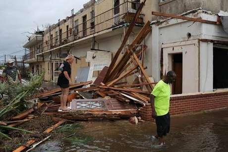 Destruição causada pelo furacão Michael na Flórida
