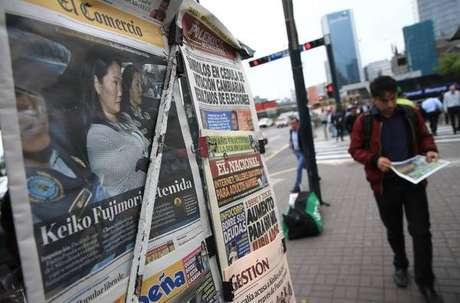 Jornais peruanos repercutem a prisão de Keiko Fujimori