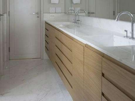 5. Se planeje bem antes de escolher o modelo de móveis planejados para banheiro – Foto: Triplex Arquitetura