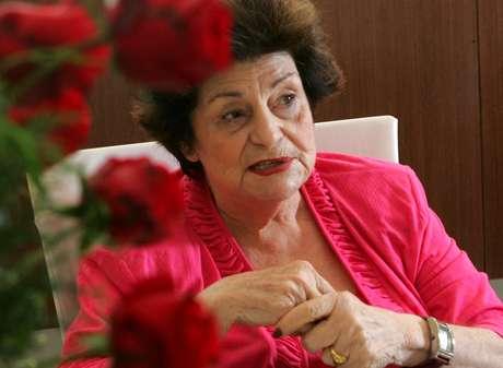 A autora Zibia Gasparetto durante entrevista na Editora Vida & Consciência na região do Ipiranga na zona sul da capital paulista, em 2010.