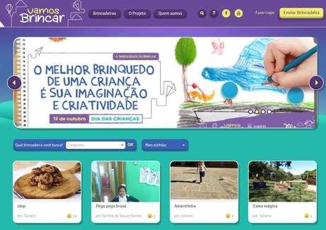 Internauta pode compartilhar suas brincadeiras, passo a passo, com outros usuários do site.