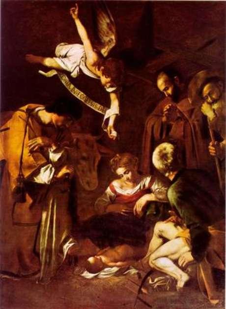"""A """"Natividade com São Francisco e São Lourenço"""", de Caravaggio"""