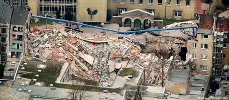 Prédio do Arquivo Histórico de Colônia desabou em março de 2009