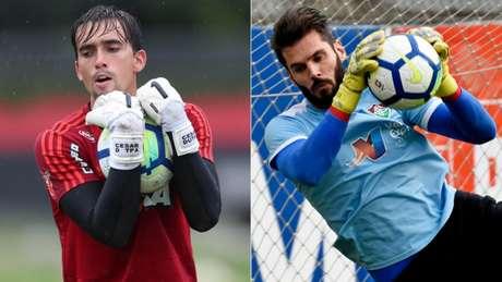 César e Júlio César defenderão as metas no Fla-Flu (Gilvan de Souza/Flamengo e Mailson Santana/Fluminense F.C.)