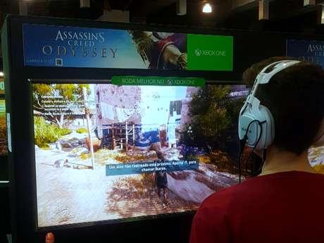 O game recém-lançado Assassin's Creed: Odyssey pode ser testado na BGS 2018