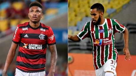 Vitinho e Everaldo: atacantes vão disputar clássico desta tarde (Montagem: Lance!)