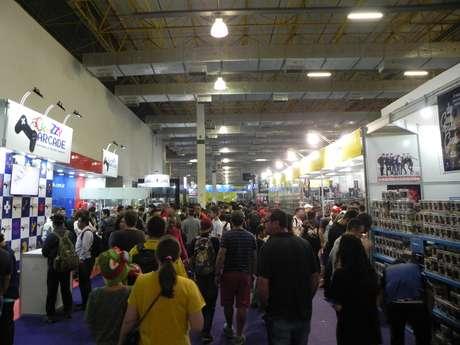 A área comercial da BGS 2018 contém 38 estandes de lojas dedicadas ao mundo dos games