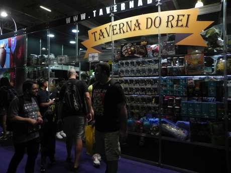 A Taverna do Rei é uma das 38 lojas que estão na área comercial da Brasil Game Show (BGS) 2018