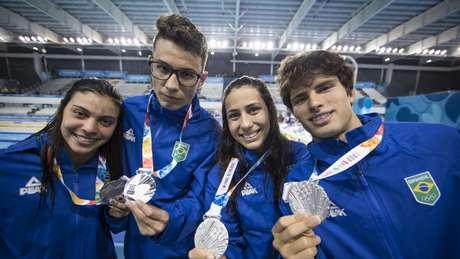 Natação brasileira foi destaque nos pódios dos Jogos Olímpicos da Juventude