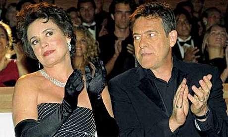 Regina Duarte (Andreia) e José de Abreu (Bruno) em 'Desejos de Mulher': rixa provocada pela guerra ideológica do momento