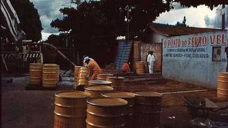 O acidente teve entre os pontos centrais um ferro-velho em Goiânia, alvo posteriormente de um grande trabalho de descontaminação