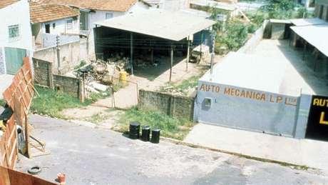 Vista do ferro-velho onde estava o material radioativo