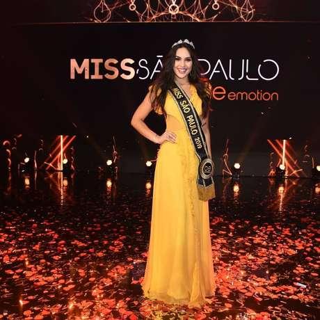 A miss Jaú Bianca Lopes conquistou o título de miss São Paulo