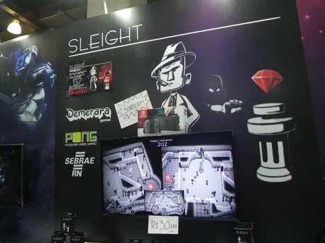 """""""Sleight"""", jogo desenvolvido pela Demerara Games, de Natal (RN), coloca duas pessoas jogando uma contra a outra: enquanto um encarna um detetive, o outro é um assaltante de joias em uma festa dentro de uma mansão"""