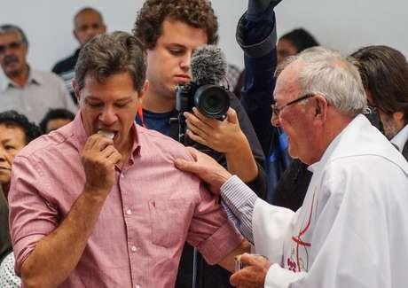 Fernando Haddad participou de missa católica na última sexta