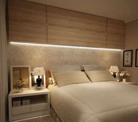 2- A decoração para quartos pequenos com móveis planejados ajudam a otimizar o espaço. Fonte: Pinterest