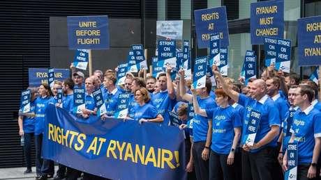 Greves foram responsáveis pelo cancelamento de milhares de voos da Ryanair nos últimos meses
