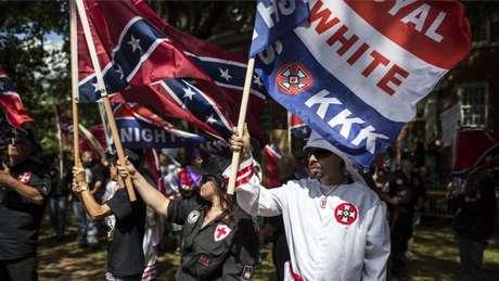 David Duke foi um dos organizadores da marcha em defesa da supremacia branca em Charlottesville no ano passado