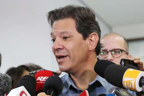 Fernando Haddad (PT), candidato do PT à Presidência