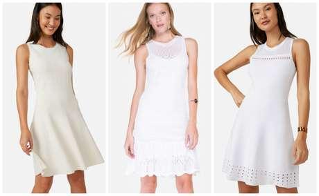 Vestidos brancos (Fotos: Reprodução)