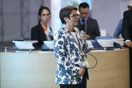 A deputada Tereza Cristina, líder dos ruralistas na Câmara