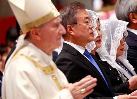 Presidente sul-coreano, Moon Jae-in, durante visita ao Vaticano 17/10/2018 REUTERS/Max Rossi