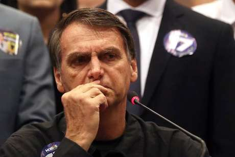 Jair Bolsonaro durante ato de campanha em São Paulo