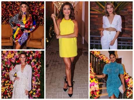 Looks das famosas em inauguração de salão (Fotos: Thiago Duran/AgNews)
