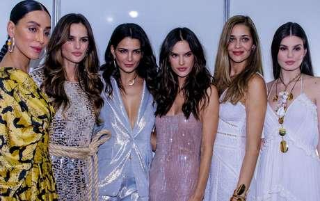 Lea T,Izabel Goulart, Fernanda Motta, Alessandra Ambrosio, Ana Beatriz Barros e Camila Queiroz (Foto: Thiuago Duran/AgNews)