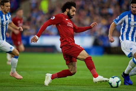 Salah marcou o gol da equipe do Liverpool ainda na primeira etapa (Reprodução/Twitter)